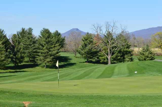 A sunny day view of a hole at Shenvalee Golf Club