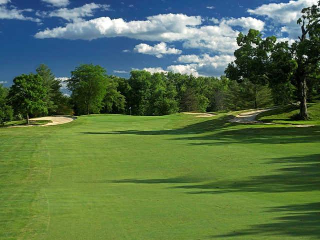A view from a fairway at Blue Fox Run Golf Club