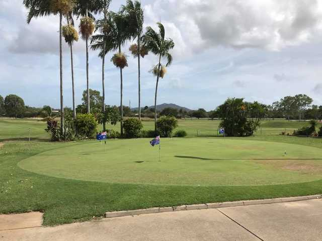 A view of the practice putting green at Lavarack Golf Club