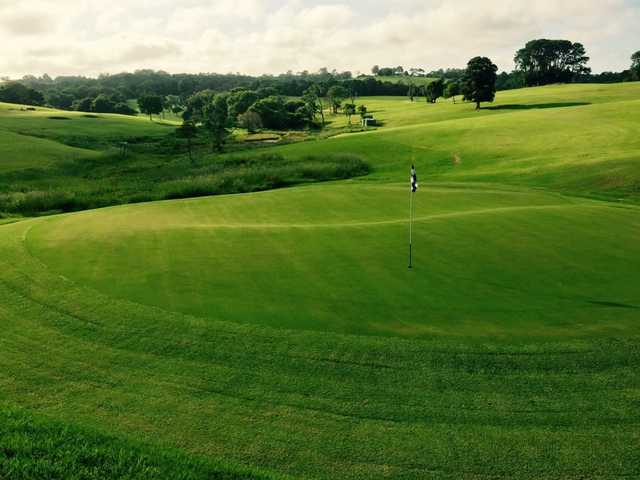 A view of the 2nd green at Maleny Golf Club