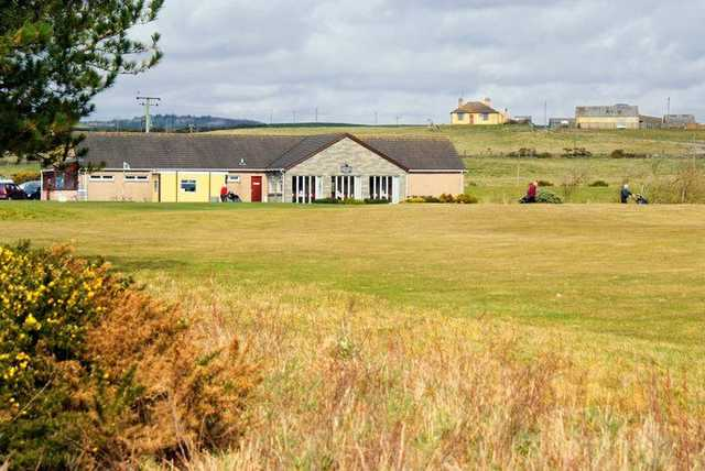 The clubhouse at Wigtownshire Golf Club