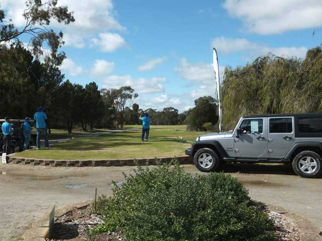 A view of a tee at Barossa Valley Golf Club Nuriootpa