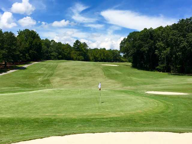 Looking back from the 1st hole at Chateau Elan Golf Club - Chateau Course