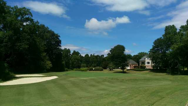 View of the 8th green from the Chateau Course at Chateau Elan Golf Club