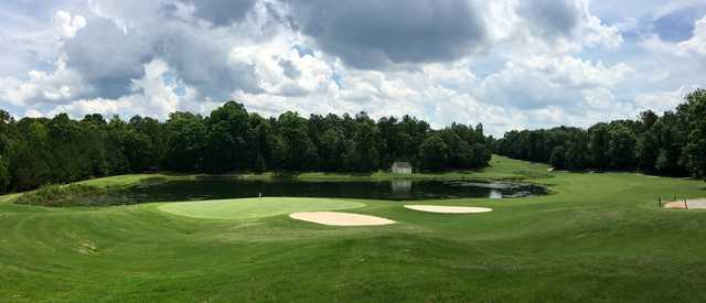 View of the 8th from the Woodlands Course at Chateau Elan Golf Club