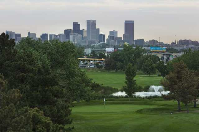 View of the 2nd hole from Overland Park Golf Course