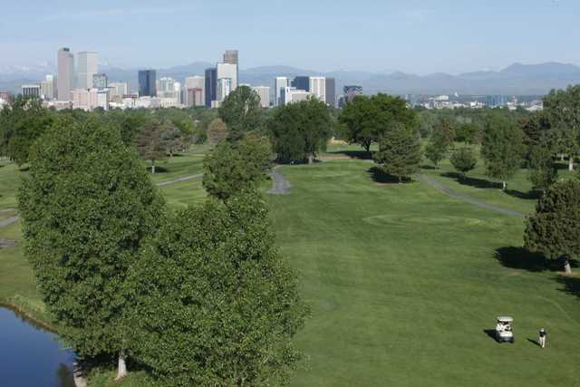 View of the 11th fairway at Denver City Park Golf Course
