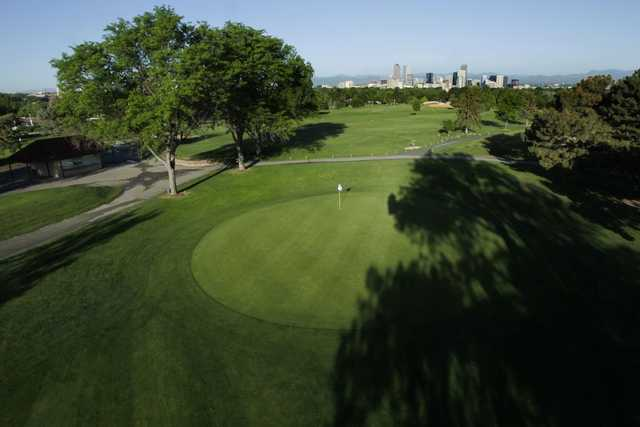 View of the 13th green at Denver City Park Golf Course
