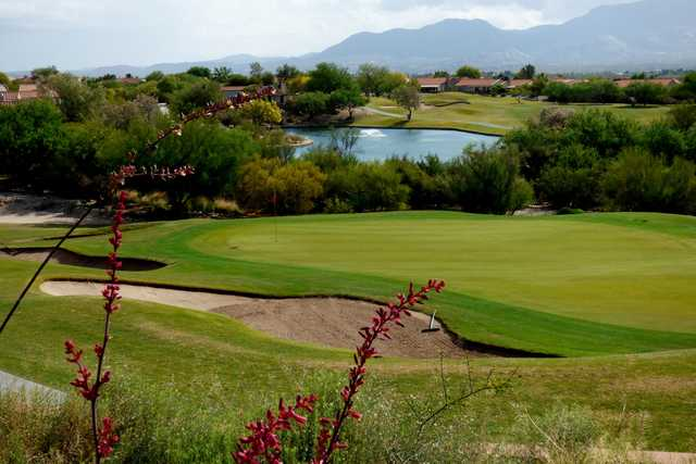 View of the 18th hole from The Views Golf Club at Oro Valley