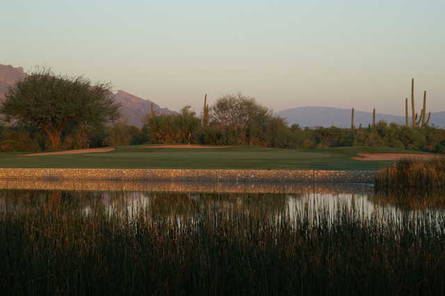 View from the par-3 140 yards 7th hole at Crooked Tree