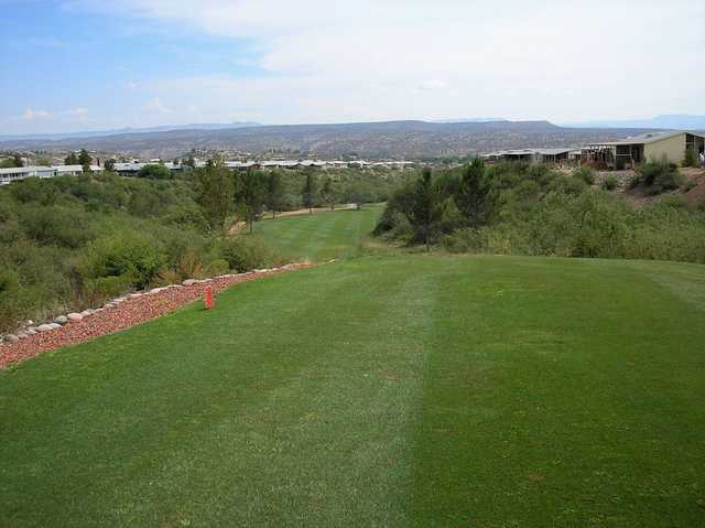 View from a tee at Coyote Trails Golf Course