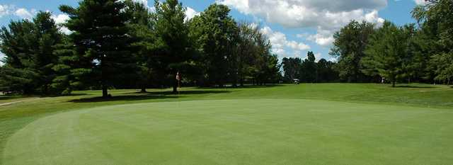 A view from a green at Pine View Golf Course