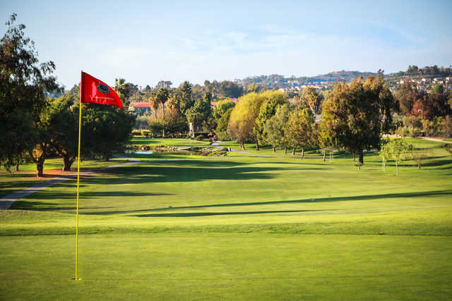 View from the 1st green at San Juan Hills Golf Club