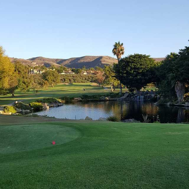 View from the 1st tee box at San Juan Hills Golf Club