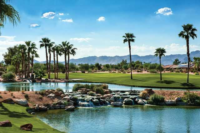 View from the 2nd hole of the Palms nine at Tuscany Falls