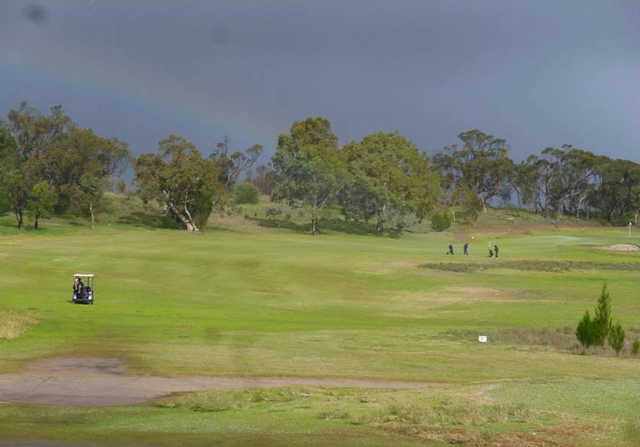 A view of a fairway at Tanunda Pines Golf Club