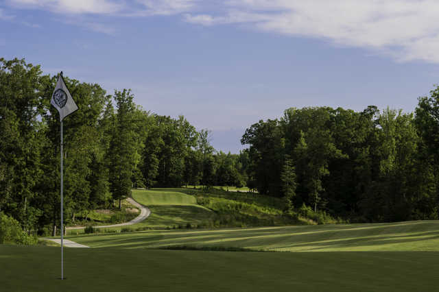 Looking back from the 16th green at Magnolia Green Golf Club