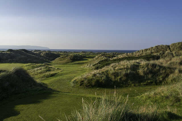 View from the 9th tee at Bann course from Castlerock Golf Club