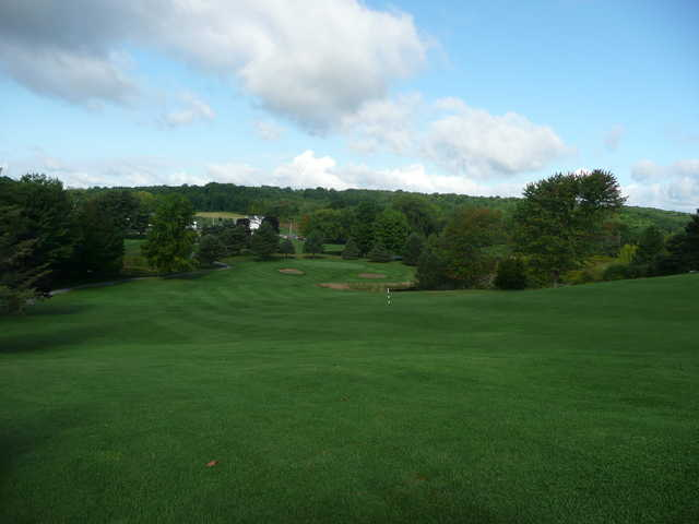 A view from Hole #9 middle fairway at Camillus Hills GC