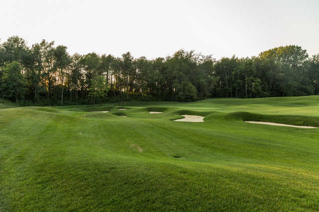 A view of hole #11 at Championship Golf Course from Chatham Hills