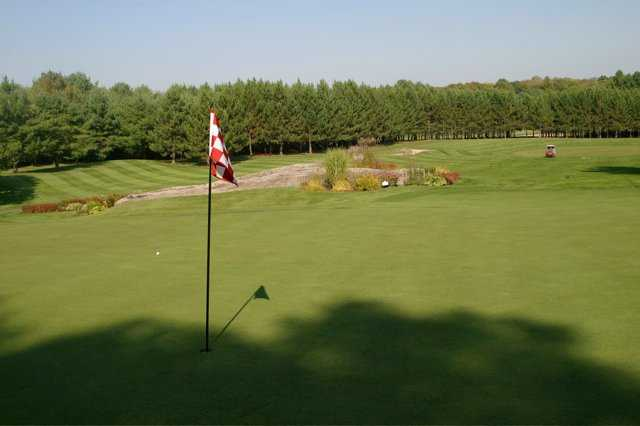 A view of the 2nd green at Diamond In The Ruff Golf Club