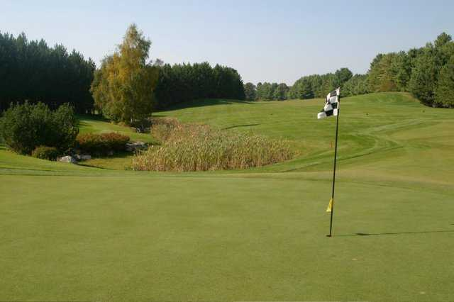 A view of hole #4 at Diamond In The Ruff Golf Club