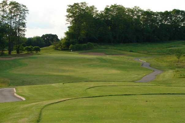A view of the 3rd green at Oak Grove Golf Course