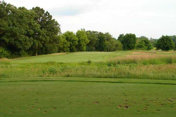 A view of green #8 at Oak Grove Golf Course