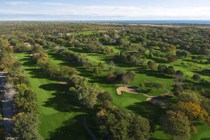 Aerial view from Glen Flora Country Club