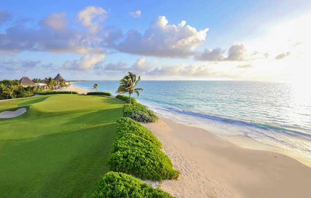 View of the 15th hole at El Camaleon Mayakoba Golf Club