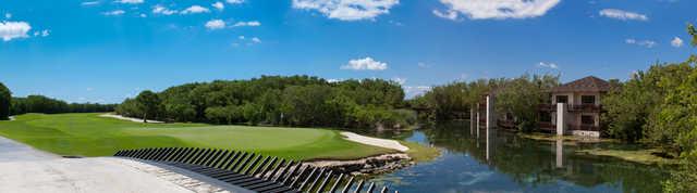 View of the 8th hole at El Camaleon Mayakoba Golf Club