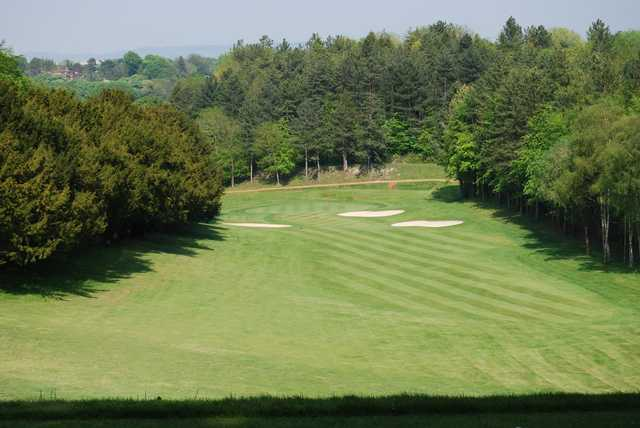 View of fairway and green at Chiltern Forest Golf Club