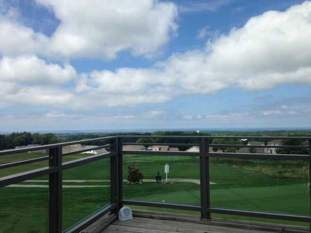 A view from the terrace at Harbor Ridge Golf Course