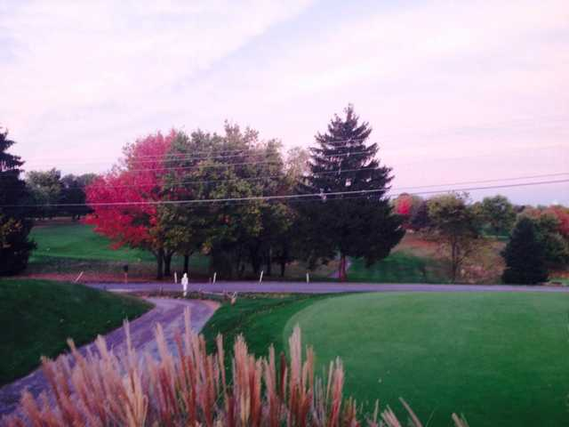 An evening view from Valley Green Golf Course
