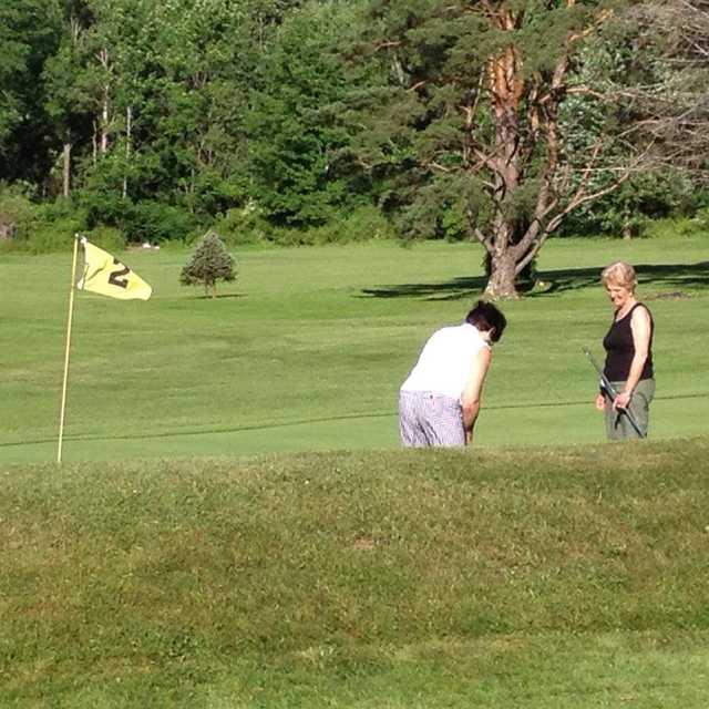 A view of green #2 at Lakeland Golf Club
