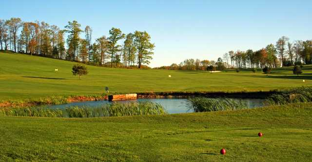 A view from a tee at Lucky Hills Golf Course