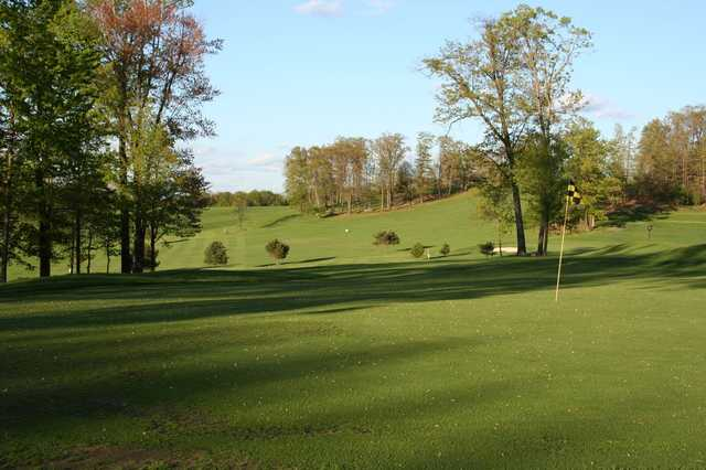 A view of a green at Lucky Hills Golf Course
