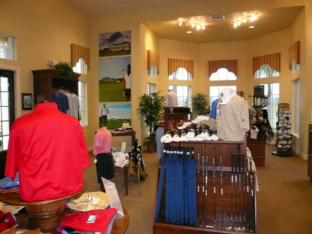 A view of the proshop at Providence Golf Club