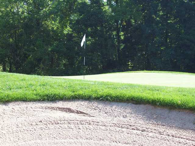 A view of a hole at Hickory Valley Golf Club