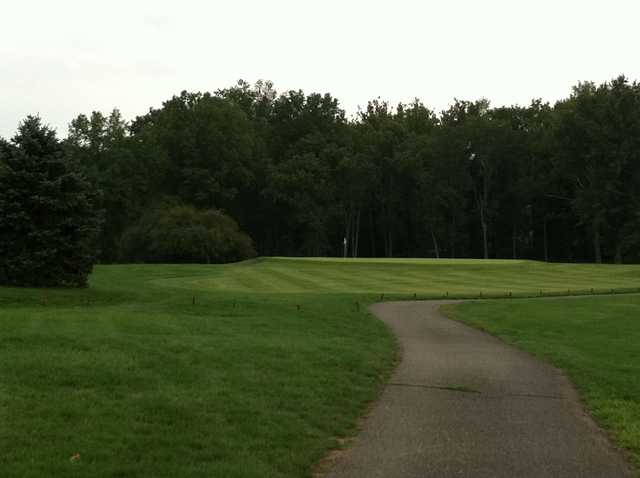 A view of the 5th green at White Course from Gilbertsville Golf Club