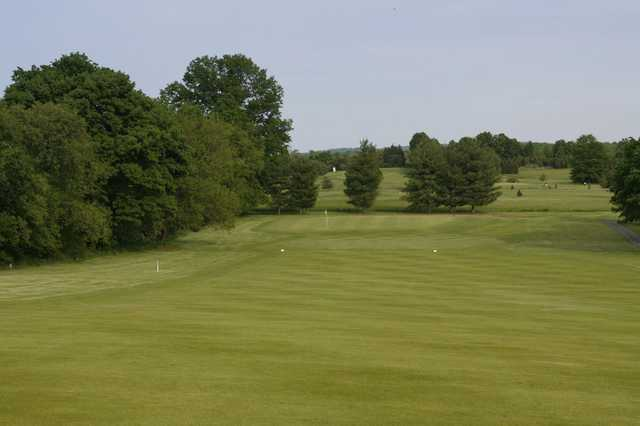 A view from a fairway at Gilbertsville Golf Club