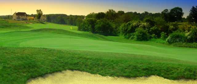 A view of a hole at Lederach Golf Club