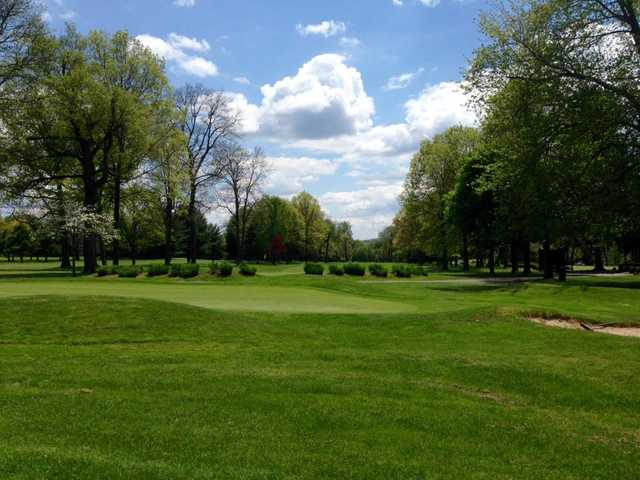 A view of a green at Tam O'Shanter of Pennsylvania