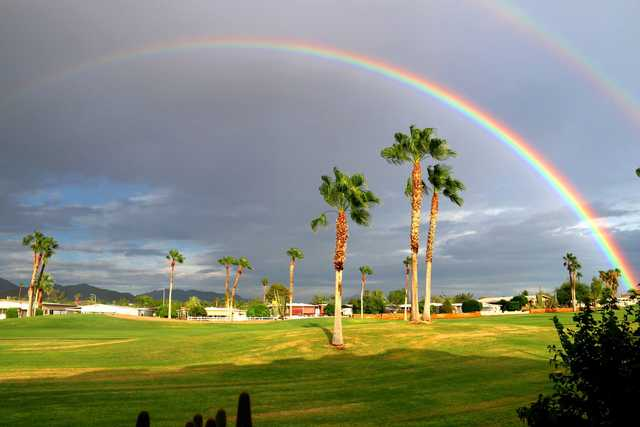 Double rainbow over Apache Wells Country Club