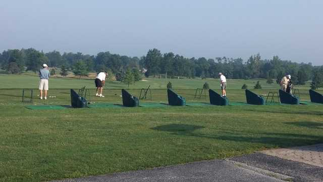 A view of the driving range at Flatbush Golf Course