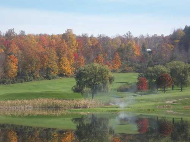 A fall day view from Corey Creek Golf Club