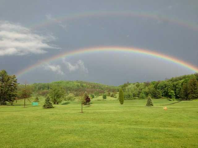 Double rainbow over Corey Creek Golf Club