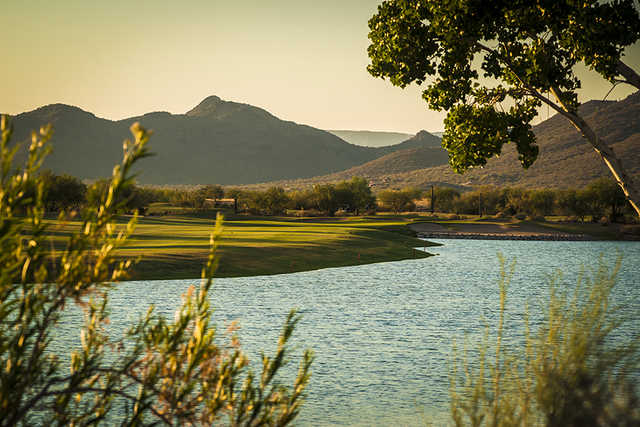 View of the 18th hole at Dove Valley Ranch Golf Club