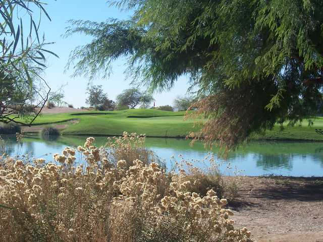 View of the 18th hole at Falcon Golf Club.