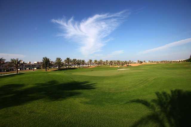 A view of a green at Al Hamra Golf Club and Resorts
